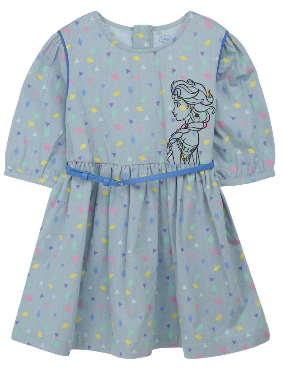 Vestido Disney Collection Frozen Para Niña
